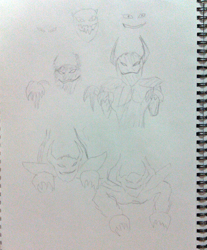 demon spirit sketches 1
